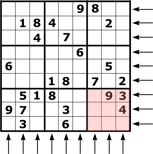 Illustration of Sudoku rules.